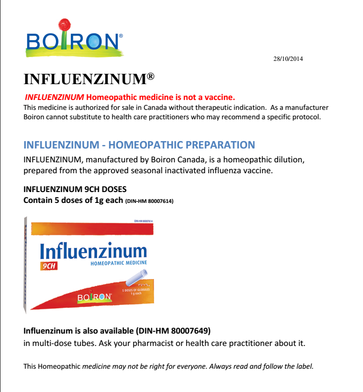 Influenzinum from Body of Health in Guelph Ontario